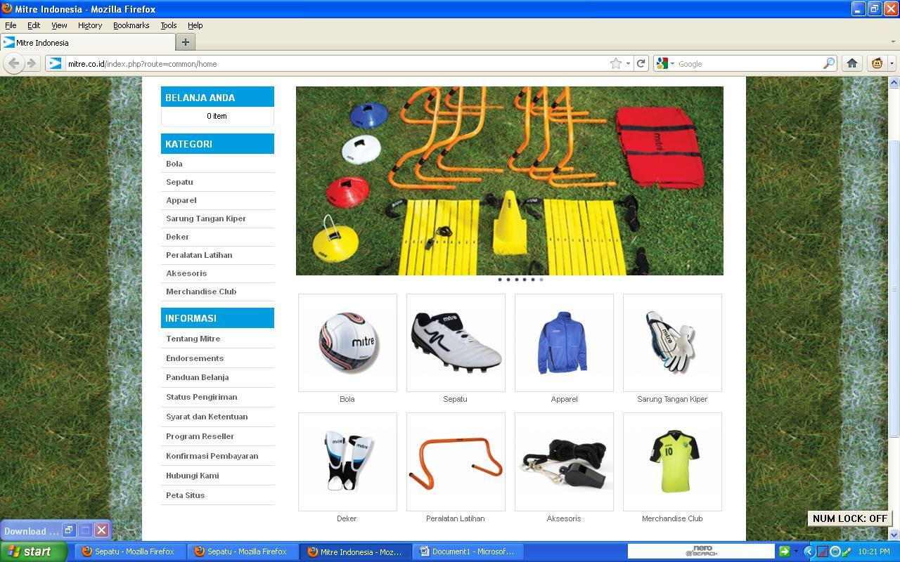 Maju Terus Indonesia Ku Contoh Web E Commerce