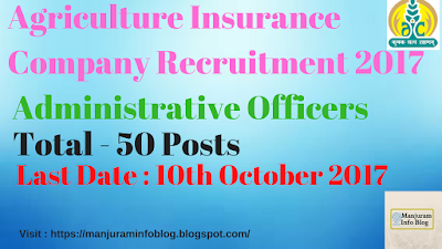Agriculture Insurance Company of India Recruitment 2017