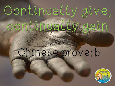 Continually give, continually gain - Chinese proverb - Teaching FSL