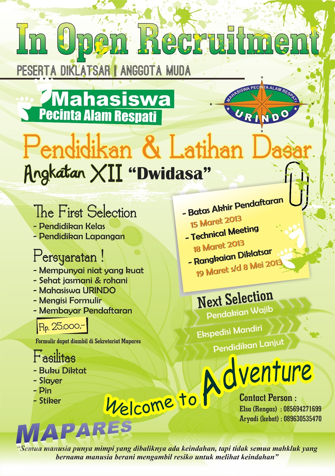 Download Contoh Desain Pamflet Poster Format Cdr Asal Tau