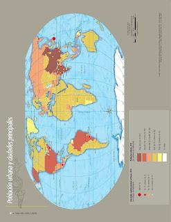 Apoyo Primaria Atlas de Geografía del Mundo 5to. Grado Capítulo 3 Lección 1 Población Urbana y Ciudades Principales