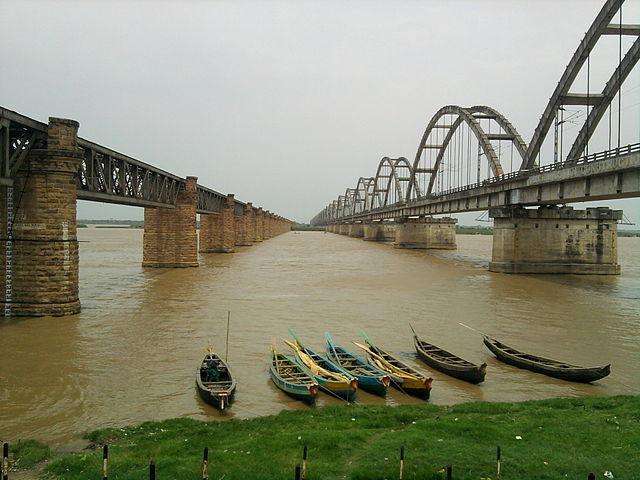 The Godavari river at Rajamundhry