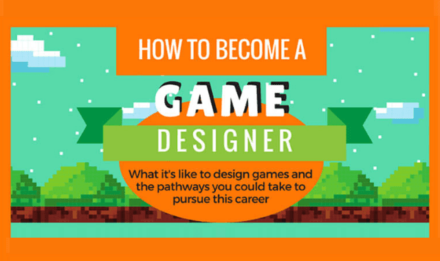 how to become a game designer infographic visualistan