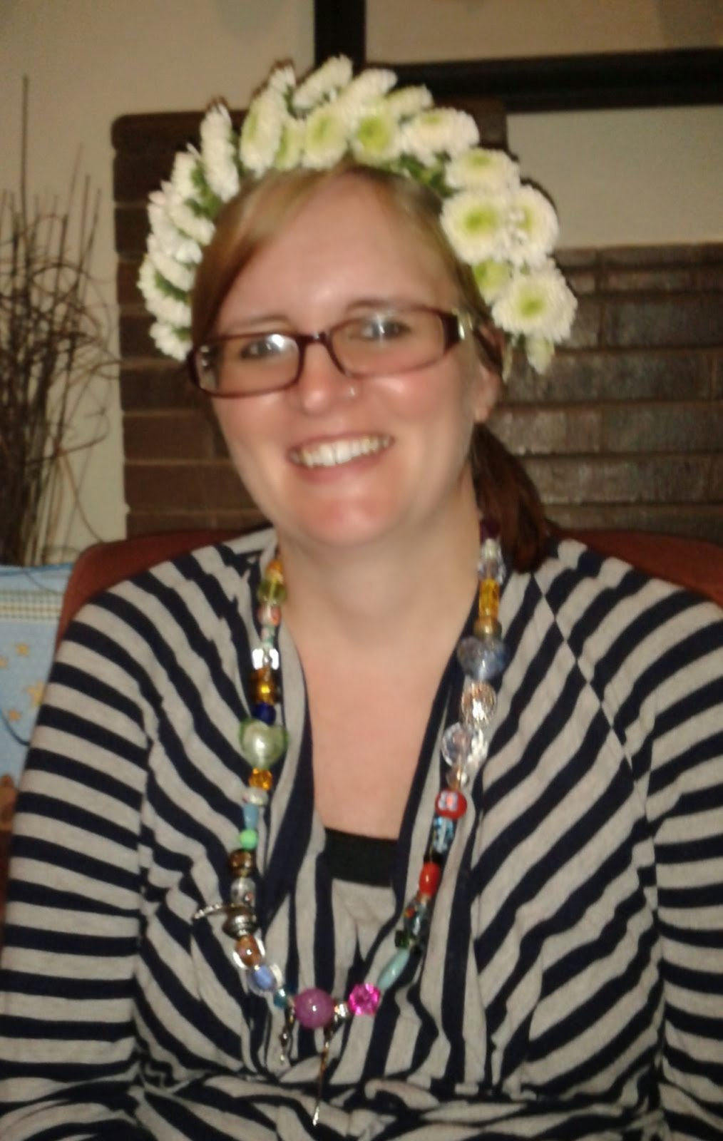 Tara's Flower Crown and Bead Necklace