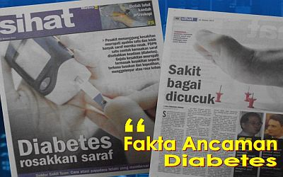 Image result for Tajuk akhbar diabetes