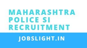 Maharashtra Police SI Recruitment 2017