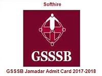 GSSSB Jamadar Admit Card