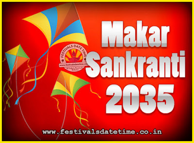 2035 Makar Sankranti Puja Date & Time, 2035 Makar Sankranti Calendar