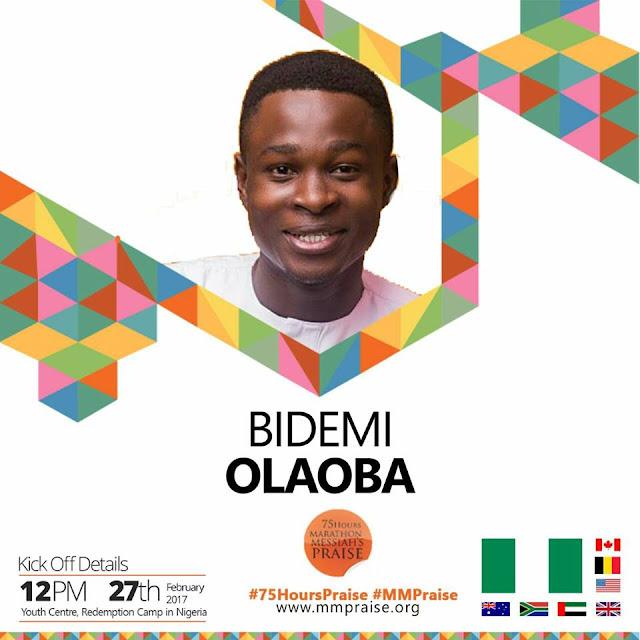 bidemi olaoba 75 hours marathon messiah praise
