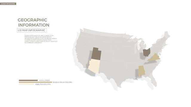 Infographic U.S Map Template by state in Powerpoint slide1