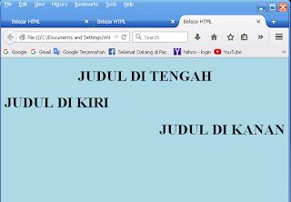 Belajar membuat HTML style