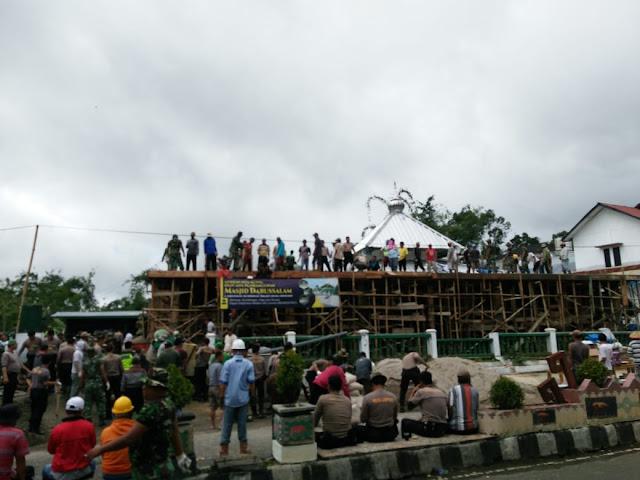 Keren,  Masjid Senilai Rp1 M Dibangun Secara Swadaya