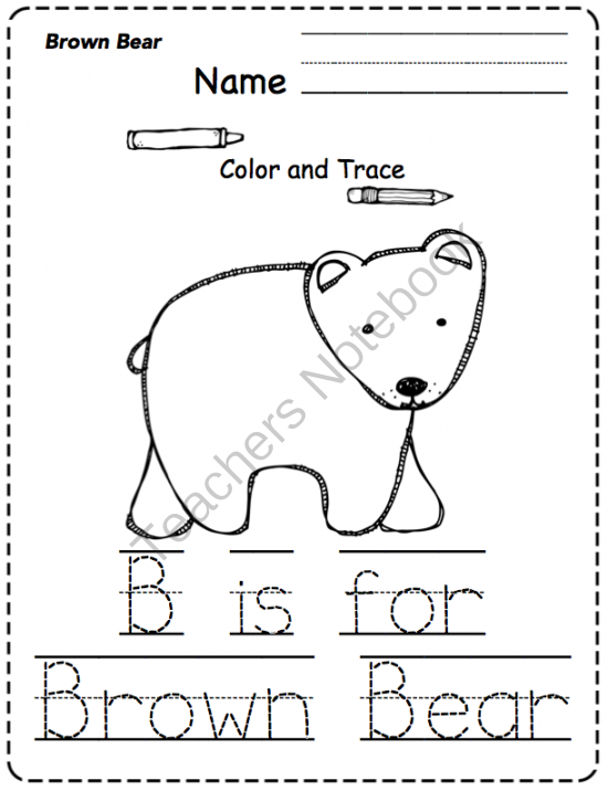 brown coloring pages for preschoolers - photo#22