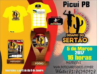 Vem aí 1ª Meia Maratona desafio do Sertão em Picuí