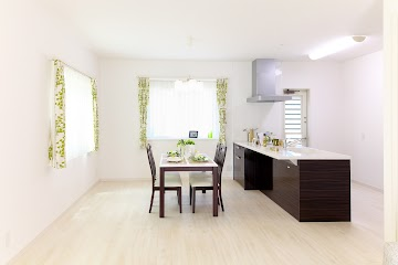 Rectangular White and Brown Wooden Dining Table