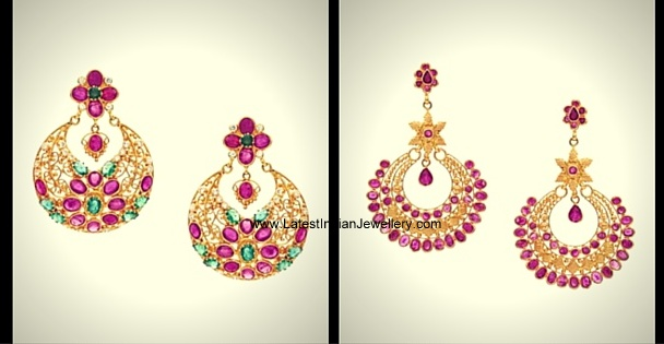Ruby Stone Chandbali Design