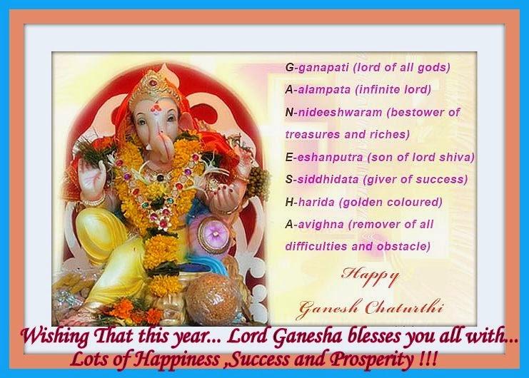 16 Happy And Prosperous Vinayaka Chathurthi 2014: Mom's Recipies: Happy Ganesh Chaturthi 2014