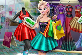 Elsa Realife Shopping Frozen Online Games