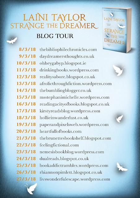 Book Tour: Strange the Dreamer by Laini Taylor | Hollie in Wanderlust | Book Blogger