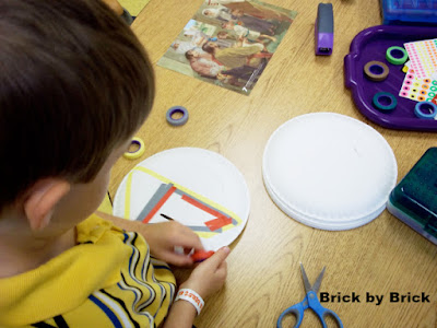 paper plate shaker (Brick by Brick)