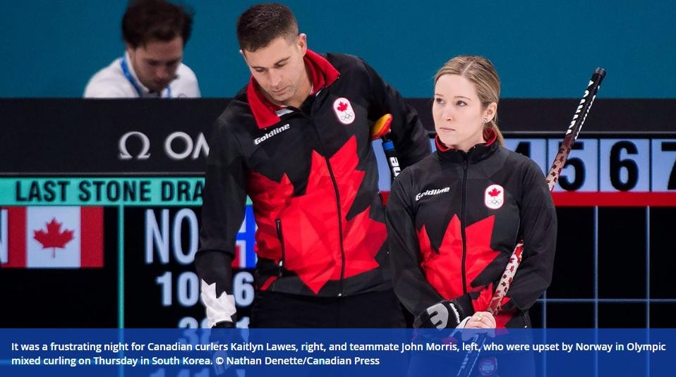Canada 2 0 pyeongchang 2018 clamoroso ko canadese nel for Olimpici scandinavi