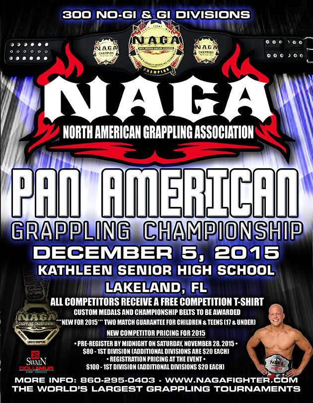 BJJ ONE NEWS: 2015 NAGA Pan American Grappling Championship