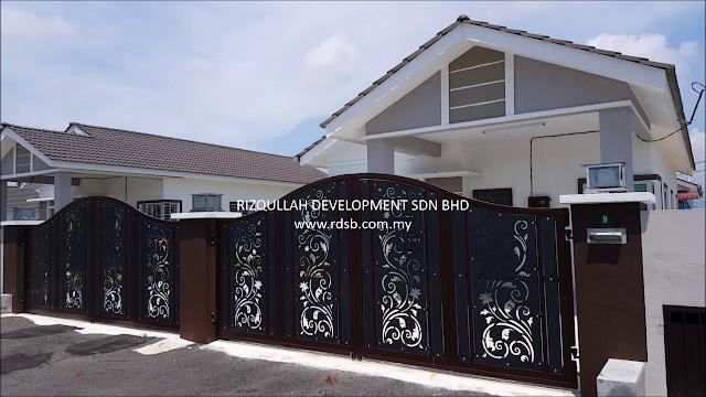 Pagar Rumah Banglo satu Tingkat di Batu Gajah Perak yang telah diupgrade