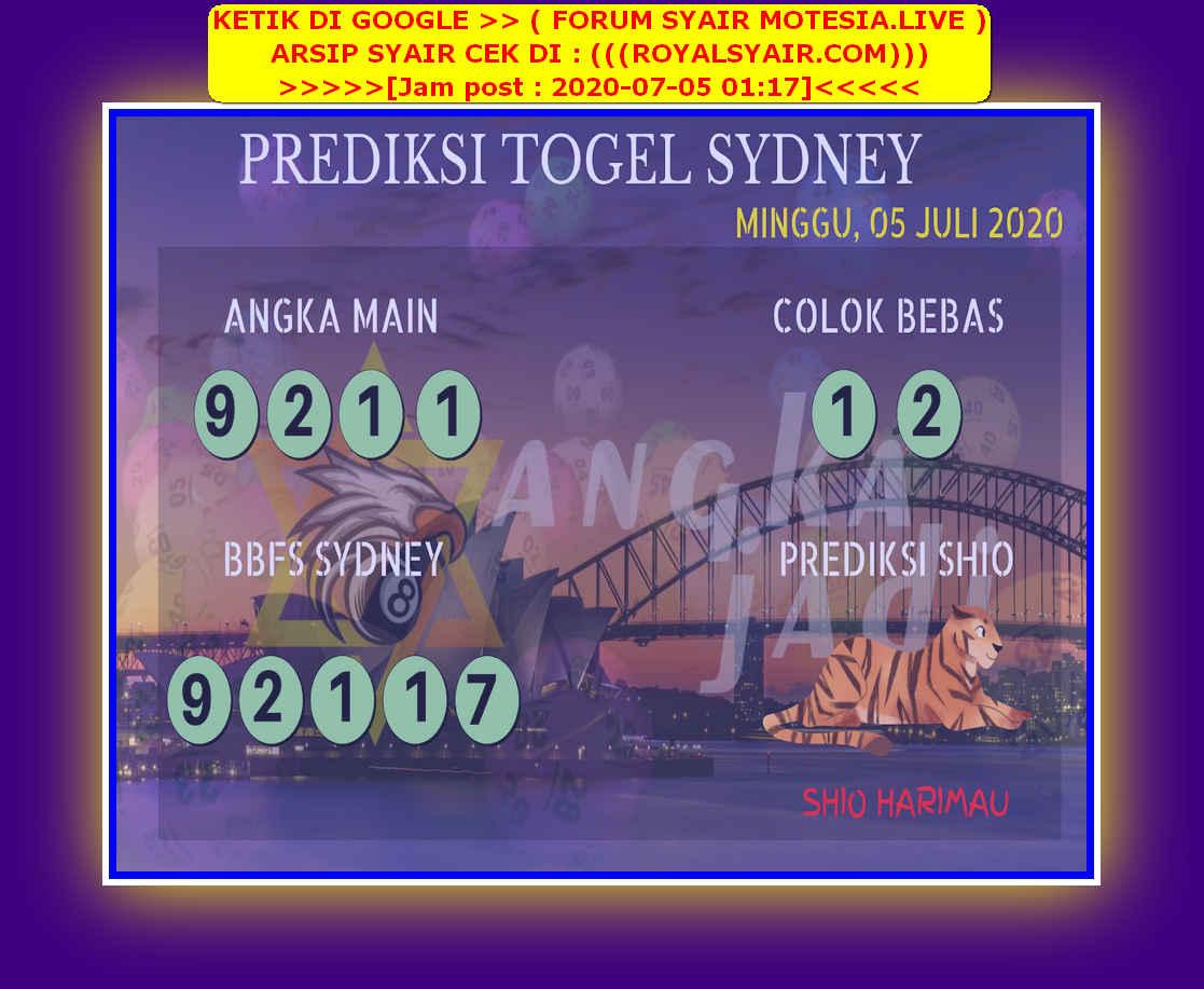 Kode syair Sydney Minggu 5 Juli 2020 193