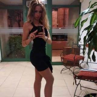 Una selfie de Mechy, la promotora que salió en el video porno con los automotivilistas.