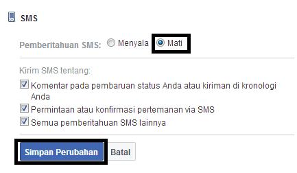 Cara Menonaktifkan Pemberitahuan Chat/SMS Facebook
