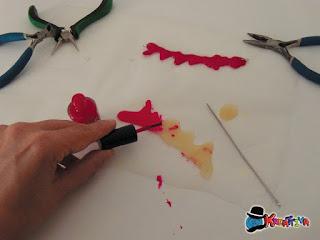 colorare il sangue finto