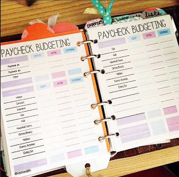 I Have It Laid Out Like This In My Planner Printed Double Sided Printing Instructions Here Be Sure To Hole Punch On The Right Side