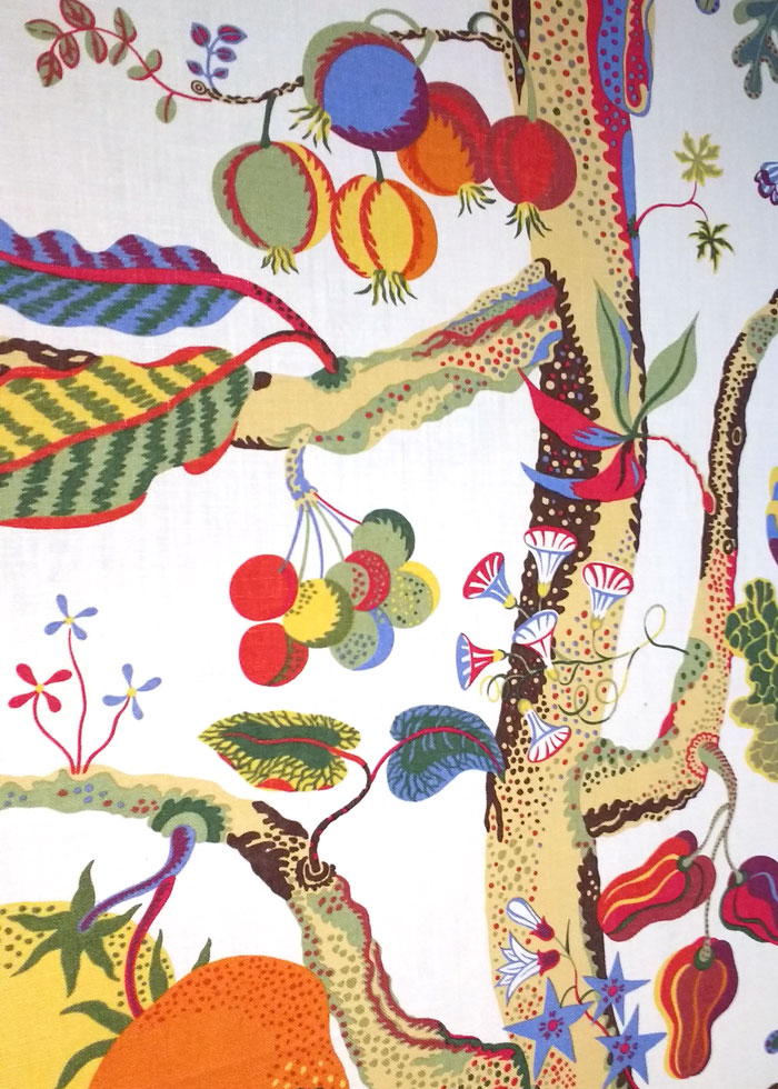 Josef Frank's Vegetable Tree pattern design at the Fashion and Textile Museum on Kim Dellow's blog