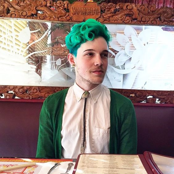 cores de cabelo masculino colorido verde (3)
