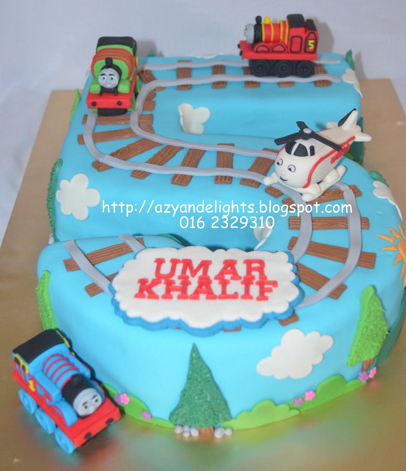 Azyandelights Number Five Thomas And Friends Cake