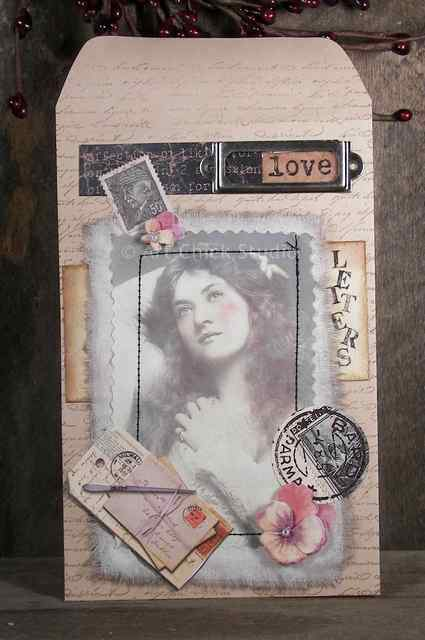 She Writes Love Letters Altered Art