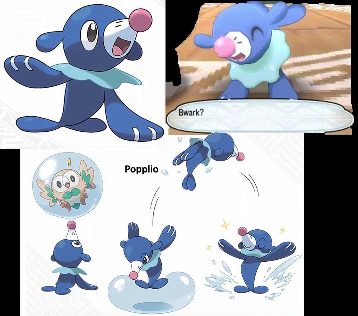 Pokemon coloring pages popplio - Popplio Sea Lion Pok Mon Sun Moon Water Starter