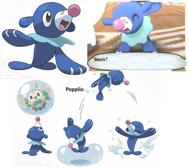 Popplio Sea Lion Pokémon Sun Moon water starter