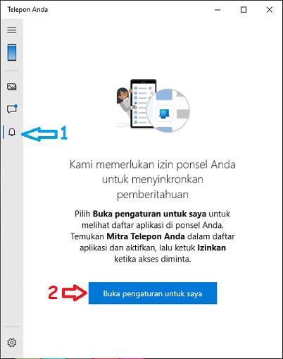 Cara menerima Notifikasi Smartphone dan membalas SMS di PC Windows 10