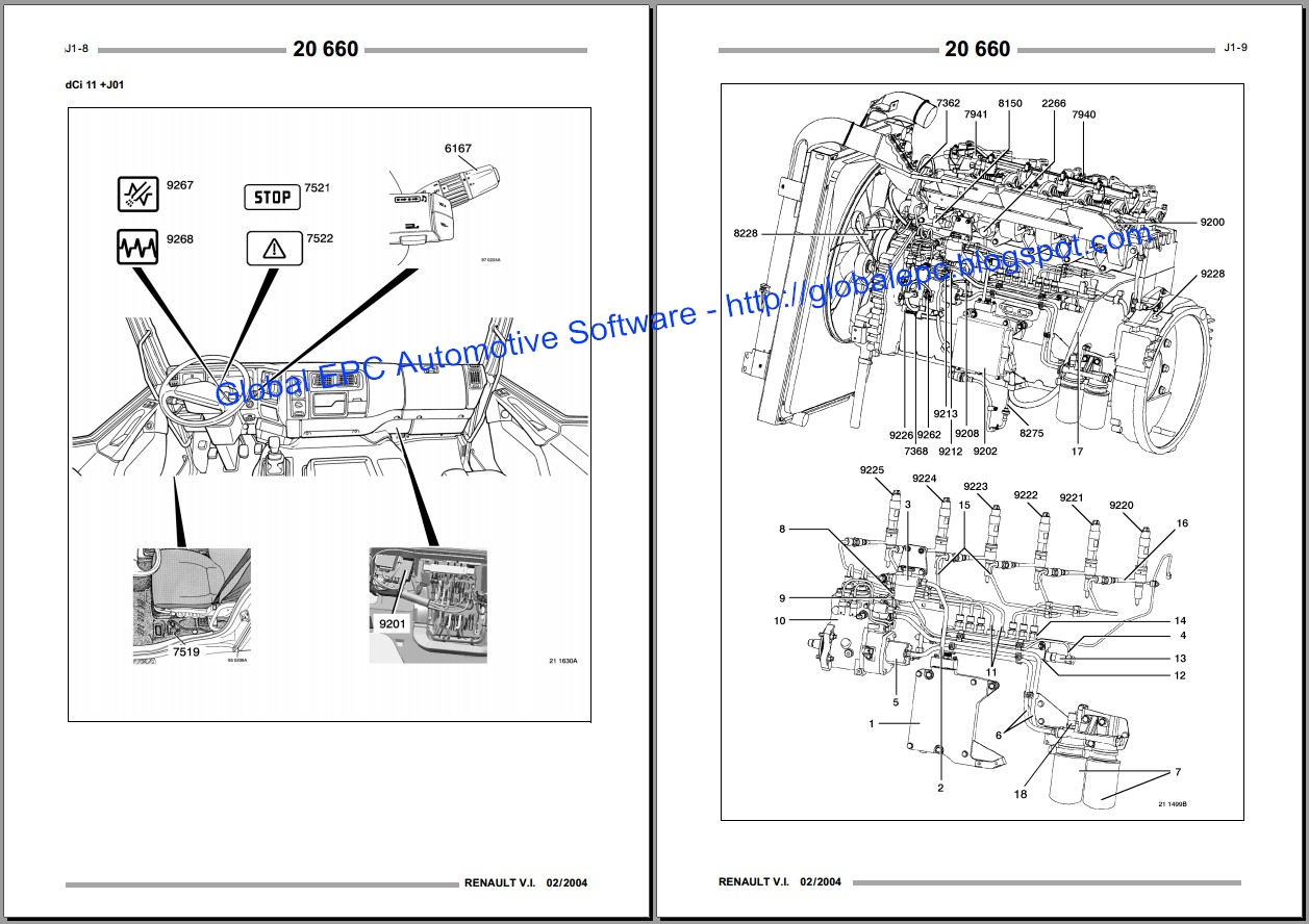 GLOBAL EPC AUTOMOTIVE SOFTWARE: RENAULT KERAX WORKSHOP SERVICE MANUALS AND WIRING DIAGRAMS