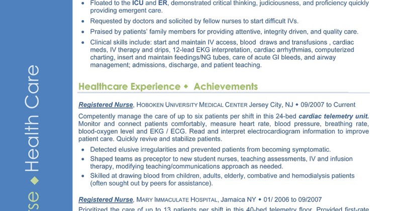 nurse educator resume samples