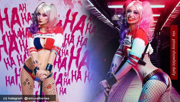 Arci Muñoz parodies Harley Quinn of Suicide Squad