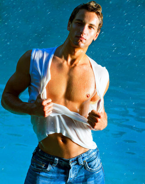 Hunk in Blue Jeans Ripped