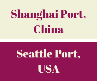 What is the transit time between Shanghai Port and Seattle