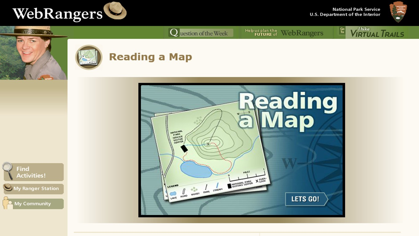 the national park service has a brief interactive activity that covers topographic maps and asks students a few questions to check their understanding