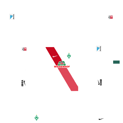 Werder Bremen Bonnet r/éversible Motif losanges