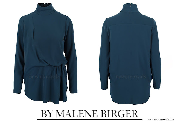Crown Princess Mary wore BY MALENE BIRGER Celestial Blouse