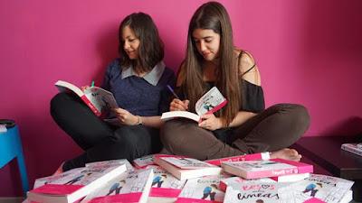 May R Ayamonte, Esmeralda Verdú, presentación Besos entre líneas, booktubers