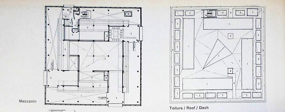 Western Art Museum, Ueno Park, Le Corbusier architectural graphic - plan architecturale de maison