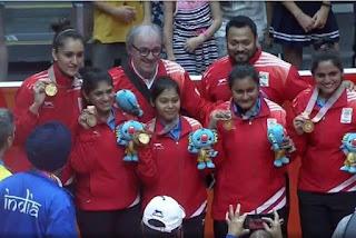 Indian table tennis tean won gold